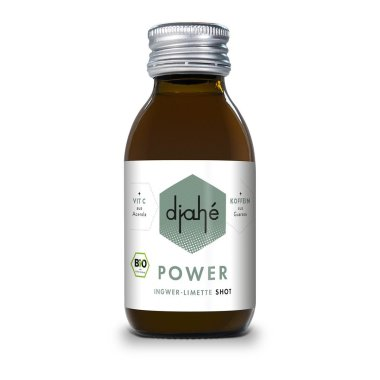 djahé - POWER Bio Ingwer-Limette Shot + 32 mg Koffein   /...