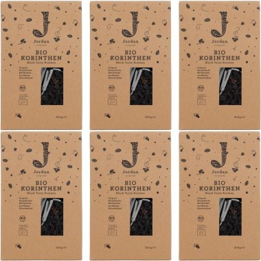 Jordan Original - Bio-Korinthen - Black Tasty, 6er Pack /...