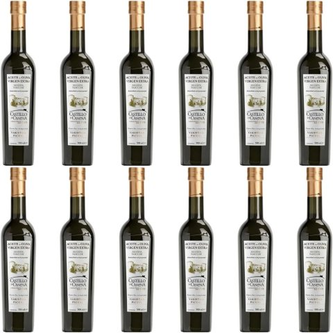 Castillo de Canena - Picual - Family Reserve - natives Olivenöl extra - 500ml Flasche - 12er Pack (12x500ml)